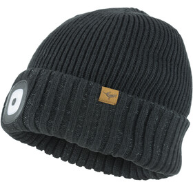 Sealskinz Waterproof Cold Weather LED Roll Cuff Beanie Black